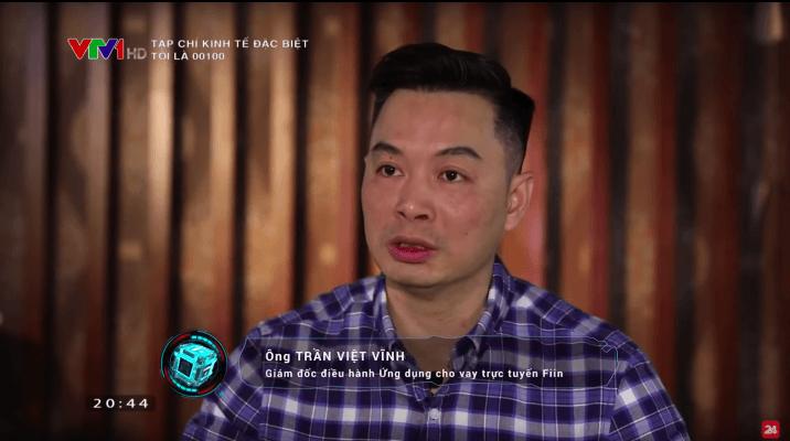 Ông Trần Việt Vĩnh, CEO của Fiin được VTV1 mời phỏng vấn nhận định về thị trường cho vay ngang hàng ở Việt Nam