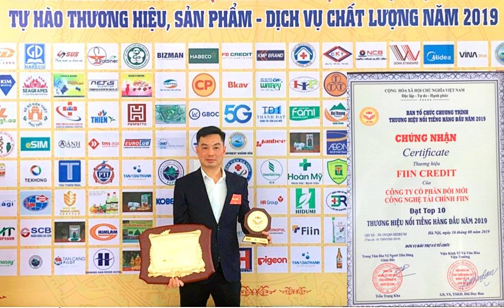 """CEO Fiin – ông Trần Việt Vĩnh được vinh danh """"Doanh nhân Vàng Việt Nam 2019"""""""