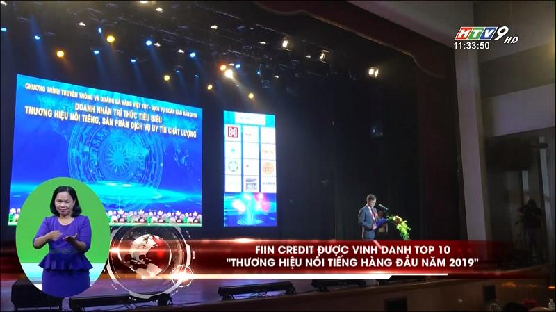 HTV9 đưa tin về Fiin là địa diện duy nhất của Fintech đạt danh hiệu top 10 thương hiệu uy tín Việt Nam 2019