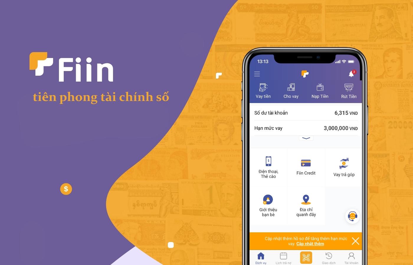 Fiin là một trong những ứng dụng cho vay ngang hàng uy tín hàng đầu Việt Nam