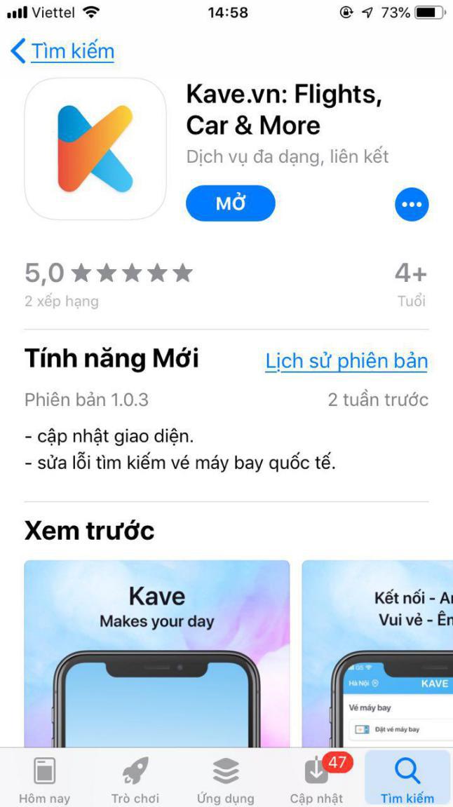 Tải ứng dụng Kave về