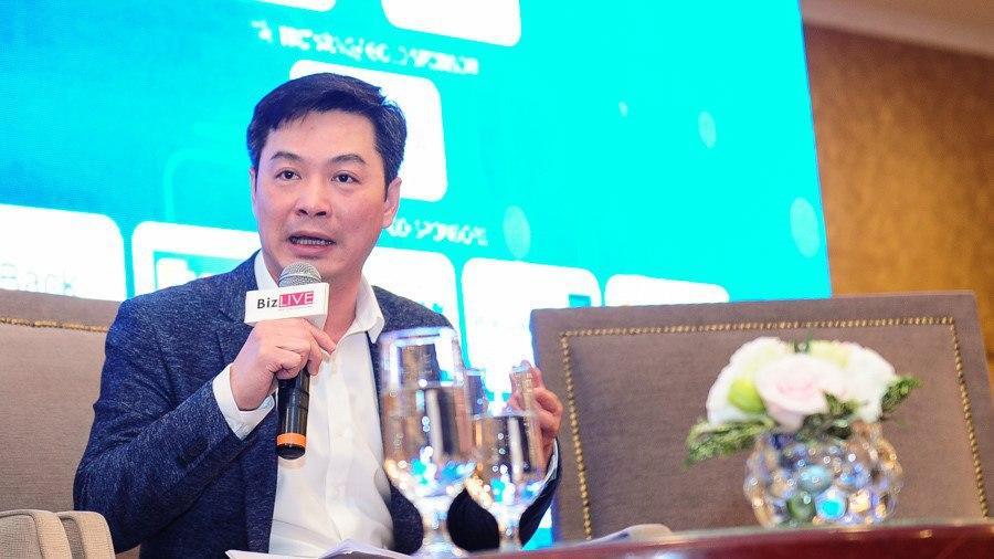 Ông Trần Việt Vĩnh - CEO Công ty CP Đổi mới Công nghệ Tài chính Fiin phát biểu tại buổi tọa đàm về lĩnh vực Fintech tại Việt Nam