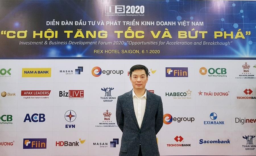 Ông Trần Việt Vĩnh - CEO công ty CP Đổi mới Công nghệ Tài chính Fiin tham gia diễn đàn đầu tư với tư cách là đại diện ưu tú và duy nhất của lĩnh vực Fintech.