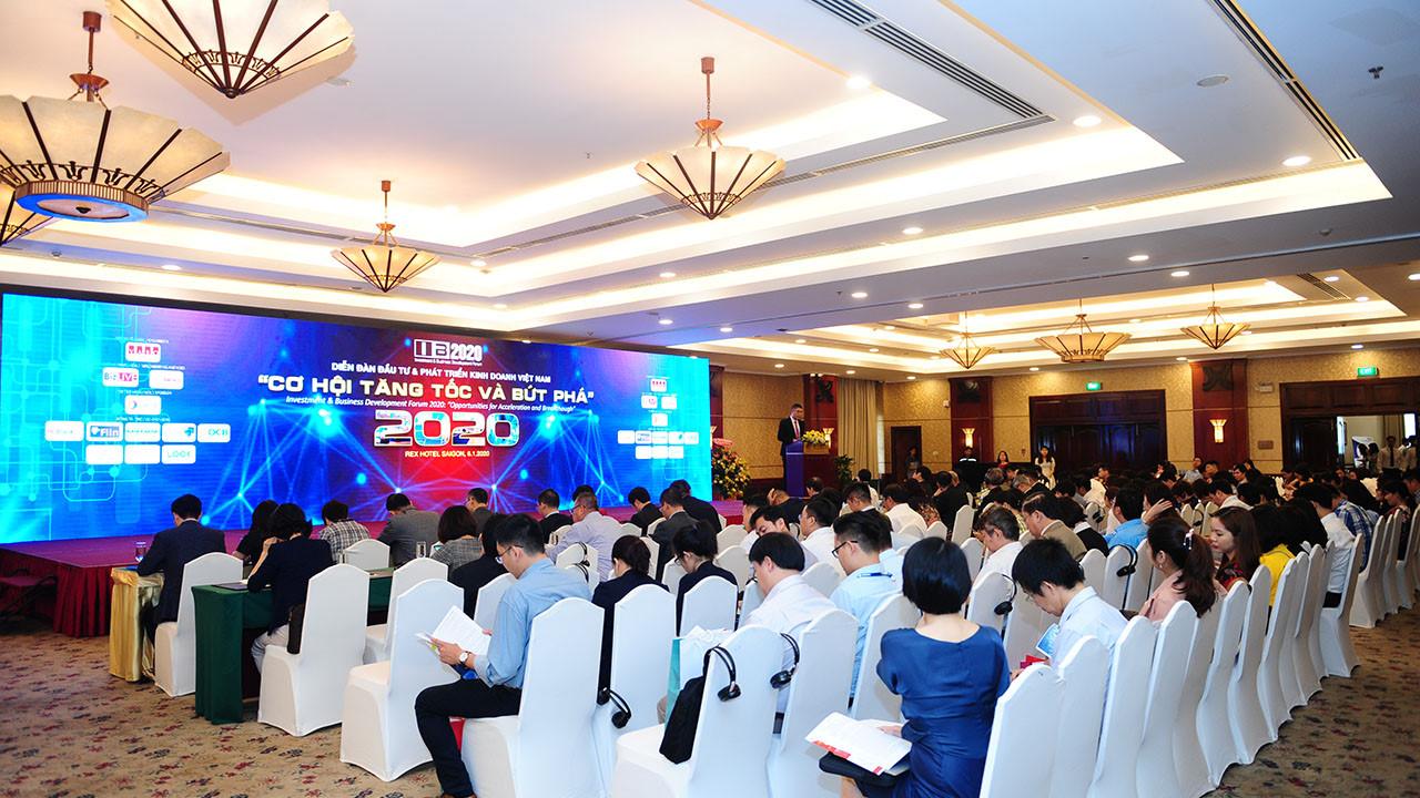 """Diễn đàn Đầu tư và Phát triển kinh doanh Việt Nam 2020 """"Cơ hội tăng tốc & bứt phá"""" được diễn ra tại Hồ Chí Minh vào ngày 06/01/2020"""