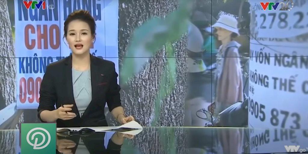 Ứng dụng cho vay nặng lãi lậu đã cắt ghép hình ảnh từ VTV để quảng cáo trên mạng xã hội.