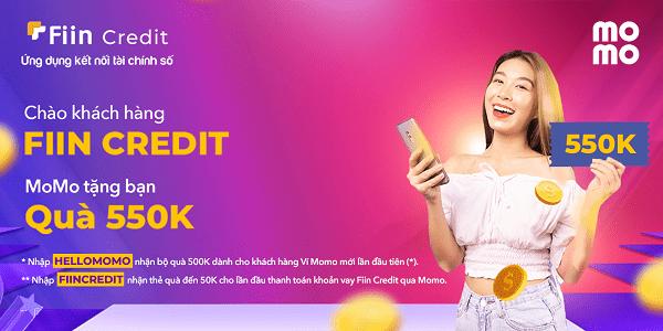 Fiin Credit tặng quà khi người dùng thanh toán khoản vay qua ví MoMo