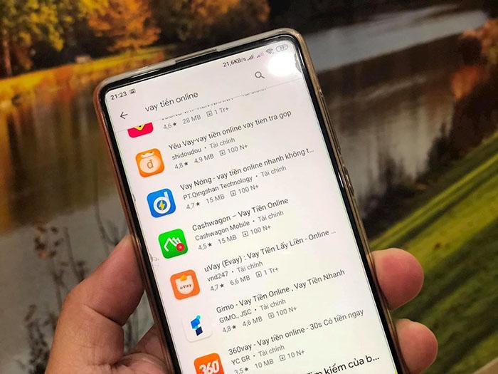 Xuất hiện tràn lan app vay trực tuyến