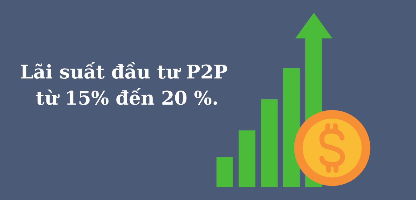 Mức lãi suất đầu tư P2P từ 15-20%/năm