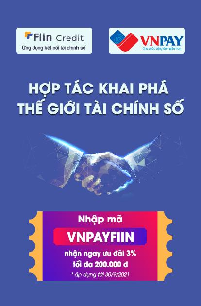 """Chương trình """"Nạp tiền online, nhận ngay ưu đãi"""" 3% khi nạp tiền vào tài khoản Fiin qua VNPAY."""