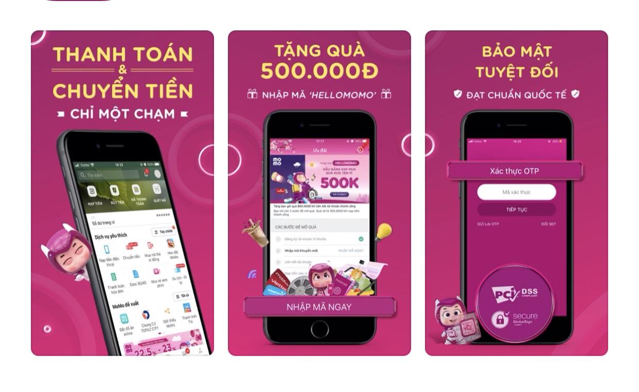 MOMO - Ứng dụng thanh toán di động nhanh chóng, hiện đại